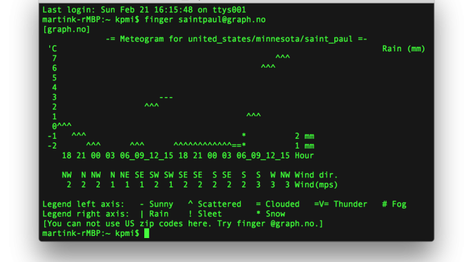 Nerd weather in Terminal